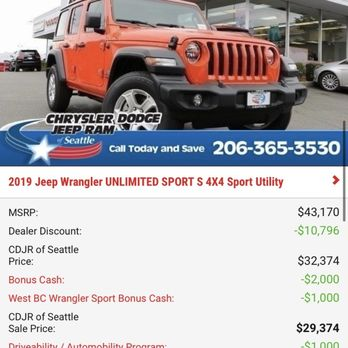 Chrysler Dodge Jeep Ram Of Seattle 33 Photos 275 Reviews Car