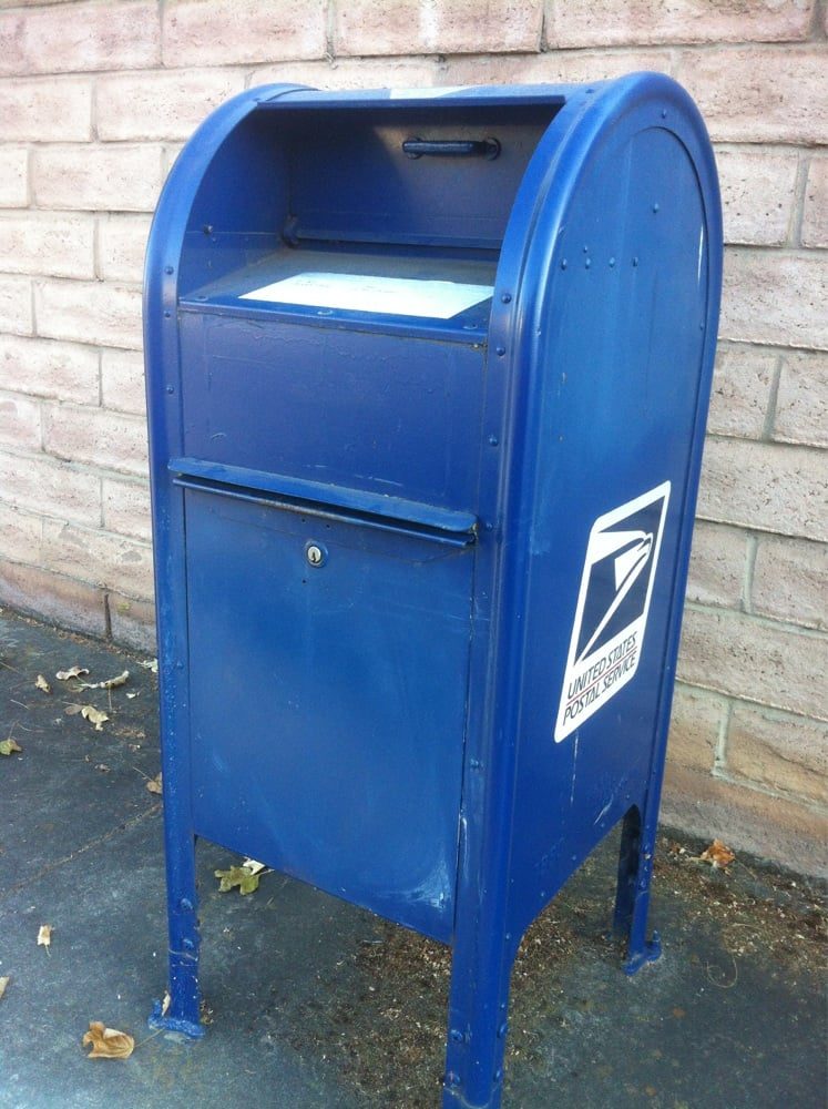 Usps Blue Mailbox Post Offices 1901 1999 Cartier Dr Livermore Ca United States Yelp