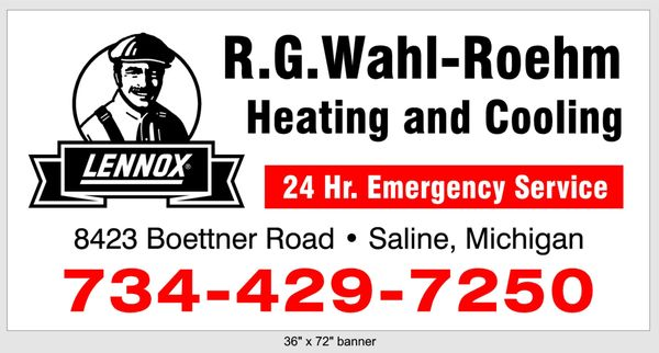 R G Wahl Roehm Heating And Cooling 8423 Boettner Rd Saline Mi