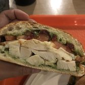 Photo of Discovery Cube Orange County - Santa Ana, CA, United States. Chicken pesto sandwich (not pictured is the other half and side salad) ~$11