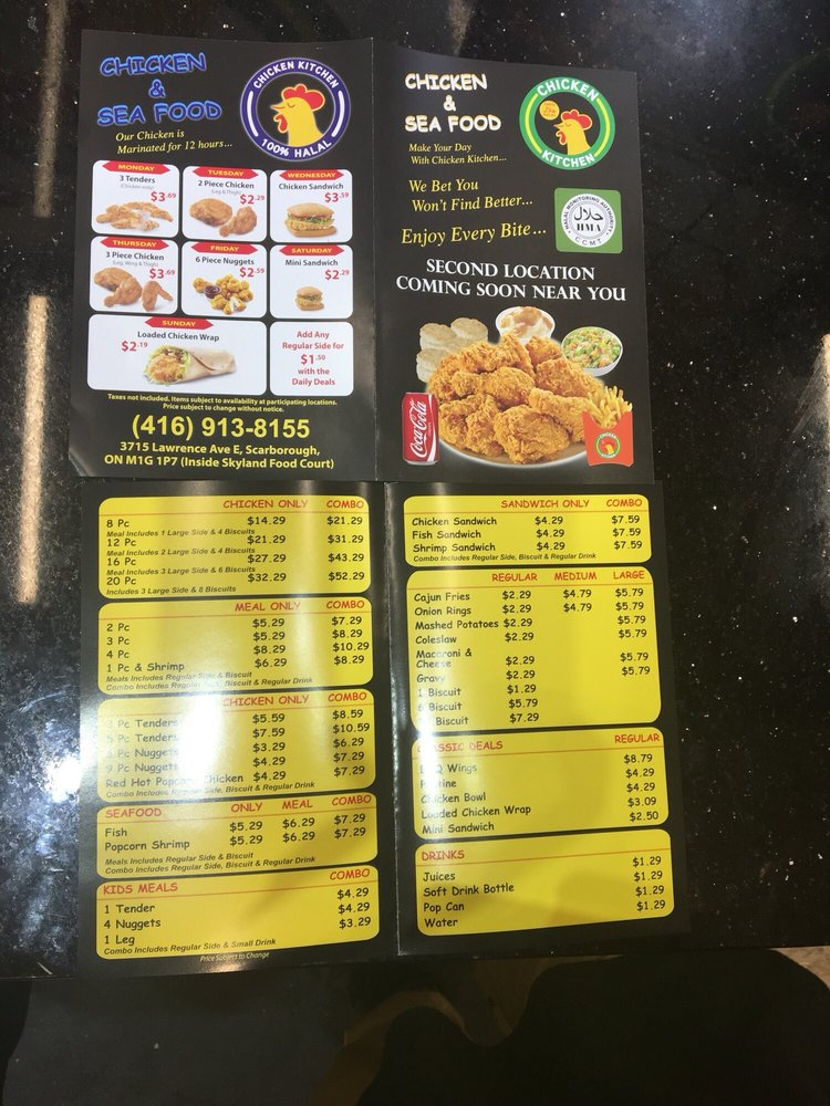 Chicken Kitchen 21 Photos 13 Reviews Seafood 3715 Lawrence Avenue E Toronto On Restaurant Reviews Phone Number