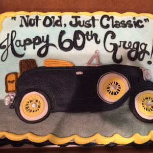 Photo of Shelby Lynns Cake Shoppe - Springdale, AR, United States. Excellent Ford Model A cake bought for my 60th by my daughter and family. Very moist chocolate cake one of best I have had in 60 years :)