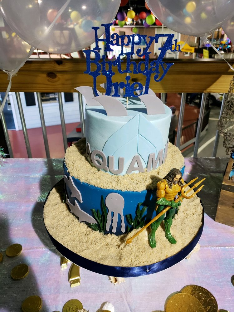 Cool Aquaman Birthday Cake Yelp Personalised Birthday Cards Arneslily Jamesorg