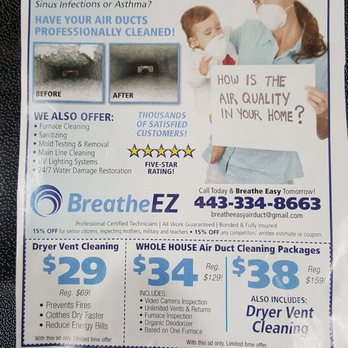 Breathe Ez 11 Photos 29 Reviews Air Duct Cleaning 1498 Reisterstown Rd Pikesville Md Phone Number Yelp