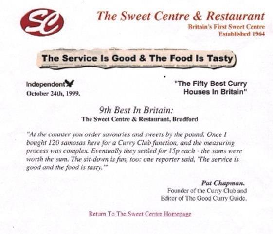 Sweet Centre Restaurant Pakistani 110 114 Lumb Lane