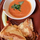 Photo of Hatch Early Mood Food - Oklahoma City, OK, United States. Grilled Cheese with Tomato Soup