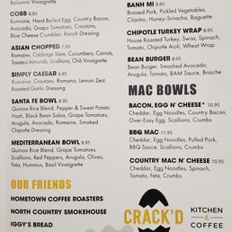 Photos For Crack D Kitchen Coffee Menu Yelp