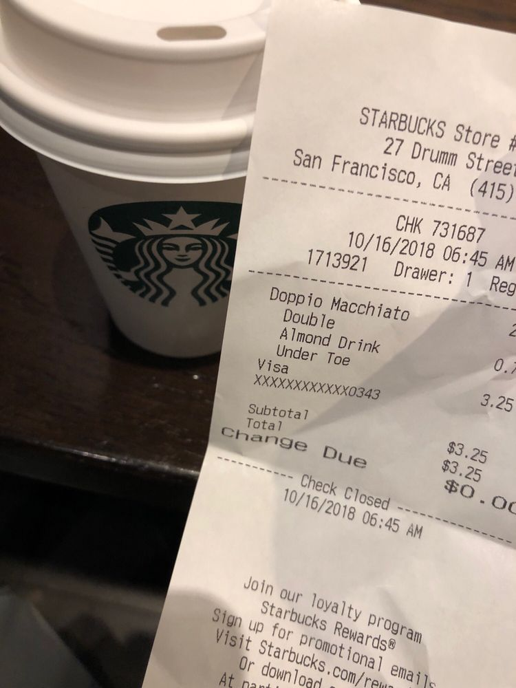 Starbucks 2018 SAN FRANCISCO