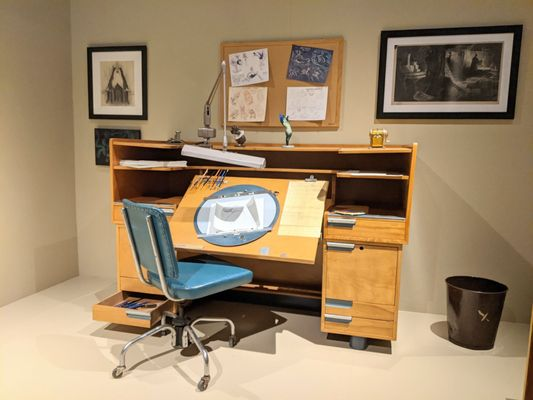 Photo of Bowers Museum - Santa Ana, CA, US. 1930s Disney Animation Studio Desk