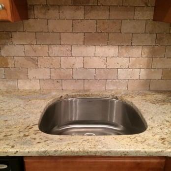 Tumbled Marble Subway Tile Backsplash