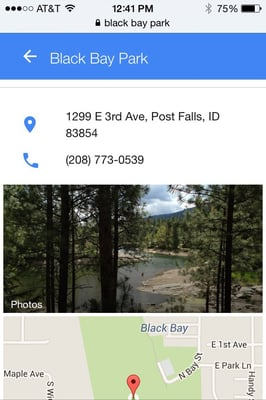 Black Bay Park 1299 E 3rd Ave Post Falls Id Parks Mapquest