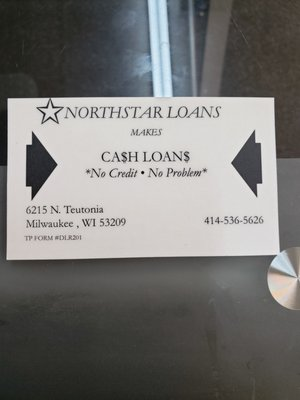 Northstar Loans 6215 N Teutonia Ave Milwaukee Wi Check Cashing