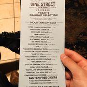 Photo of Vine Street Pub & Brewery - Denver, CO, United States. Beer menu