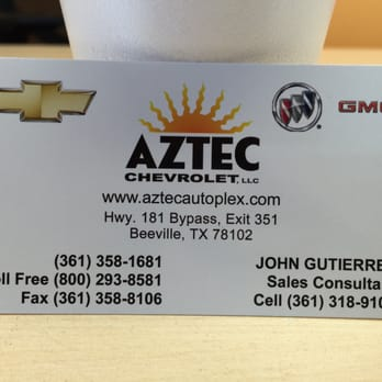 Aztec Chevrolet Buick Gmc Tires 772 Hwy 181 N Beeville Tx Phone Number