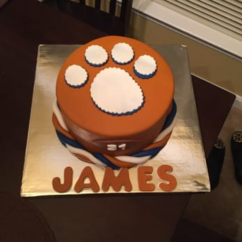 Superb Awesome Job On The Custom Clemson Birthday Cake Yelp Funny Birthday Cards Online Eattedamsfinfo