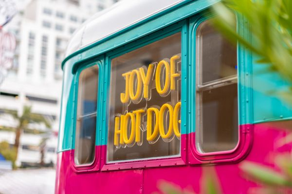 Joy of Hot Dog - Temp. CLOSED - 30 Photos & 32 Reviews - Hot Dogs - 504 E  Fremont St, Downtown, Las Vegas, NV - Restaurant Reviews - Phone Number -  Yelp