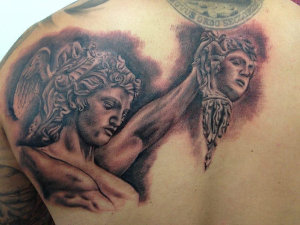 Black And Grey Perseus Beheading Medusa By Jesse Norris Yelp