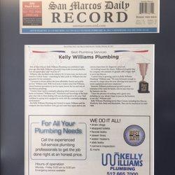 Kelly Williams Plumbing - Plumbing - San Marcos, TX - Phone Number