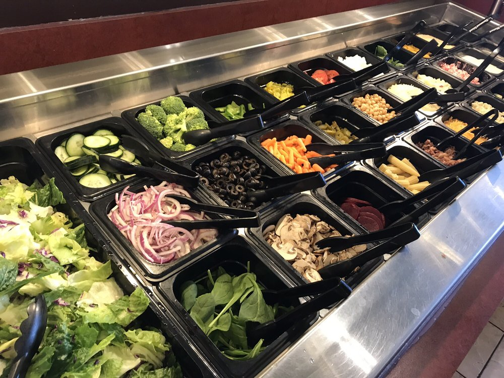 Round Table Buffet Latest, Round Table Salad Bar
