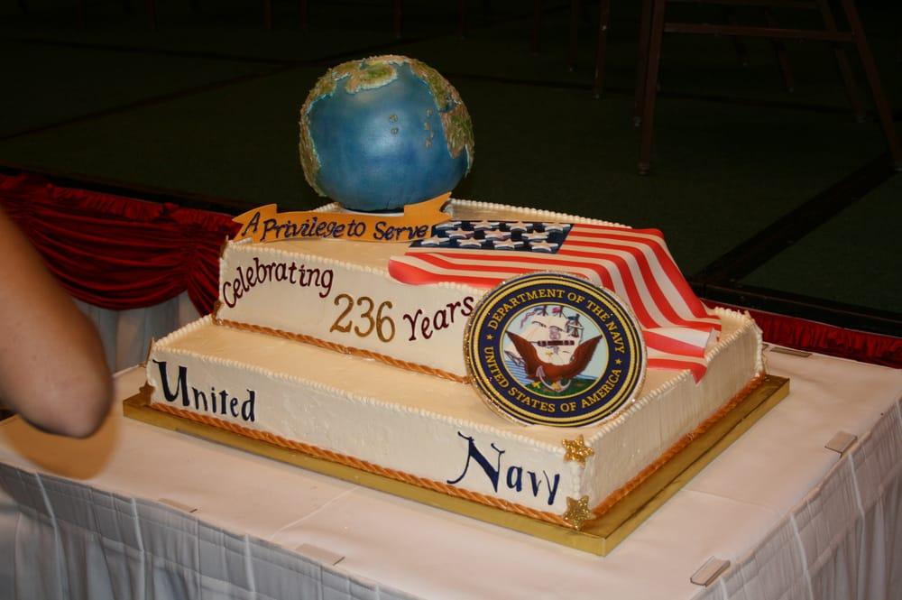 Fine Navy Birthday Ball Cake Yelp Funny Birthday Cards Online Fluifree Goldxyz