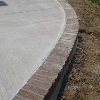 Concrete Patio With Real Brick Border