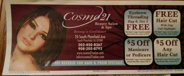 Cosmo 21 Beauty Salon Spa 24 S Plainfield Ave South Plainfield Nj Hair Salons Mapquest