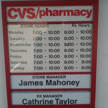 CVS Store and Pharmacy Hours (as of 9/2/12) - Yelp