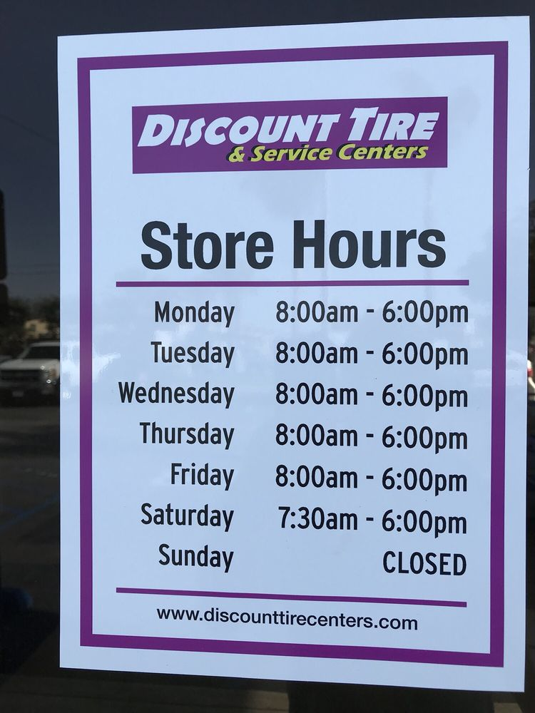Discount Tire Hours Sunday >> Discount Tire Centers 2019 All You Need To Know Before You