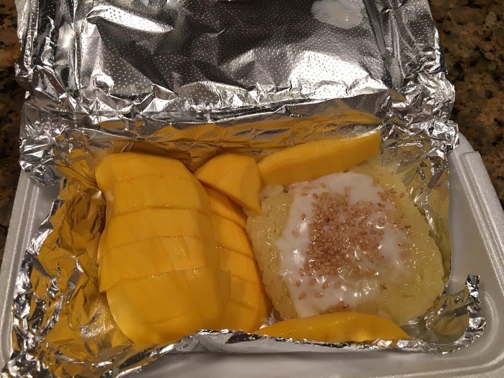 TAKE OUT. Mango sticky rice dessert - Yelp