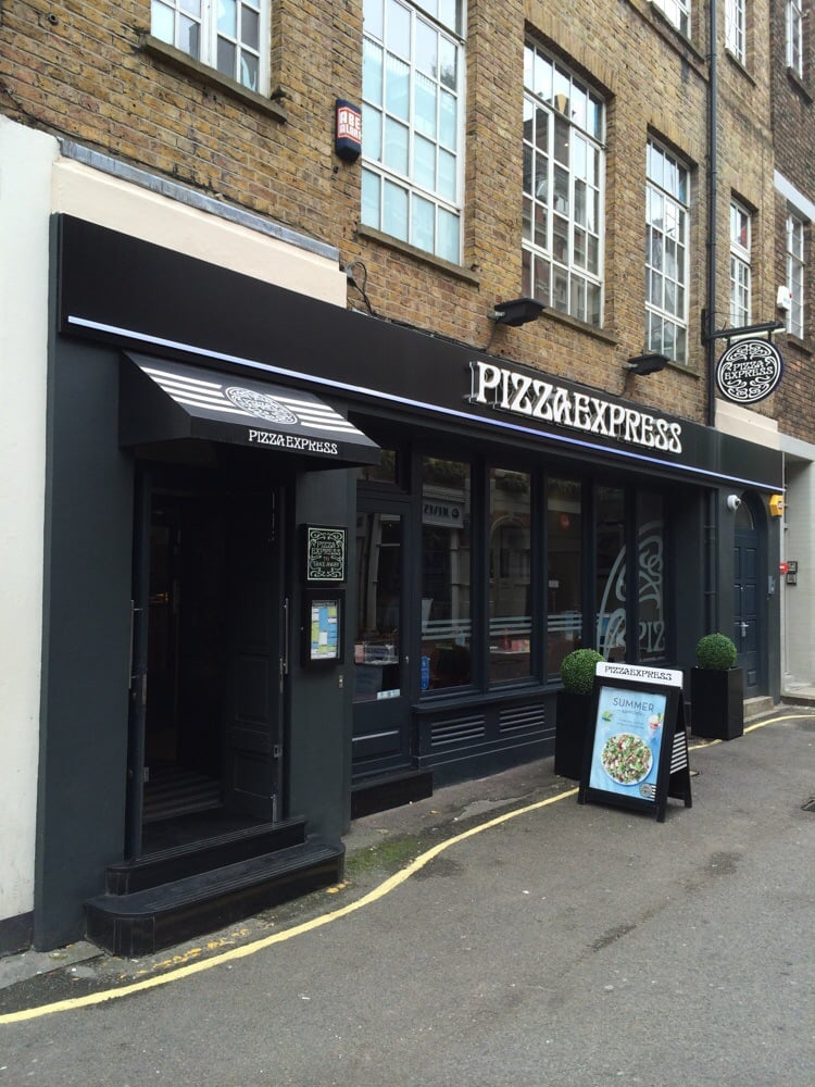 Pizza Express Pizza 23 Bruton Place Mayfair London