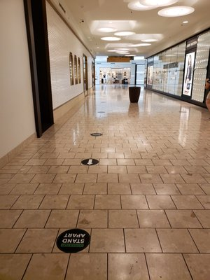 Photo of The Mall at Short Hills - Short Hills, NJ, US. New entry post covid (with spacing)