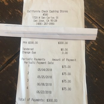 California Check Cashing Stores 15 Reviews Check Cashing Pay Day Loans 1720 W San Carlos St San Jose Ca Phone Number
