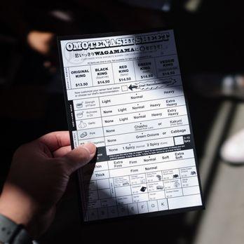 ramen nagi order form  Ordering form - Yelp