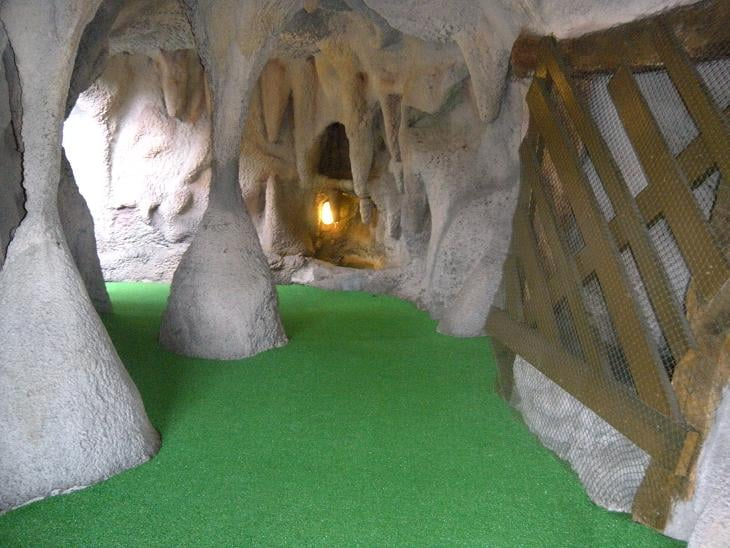Photo of Smugglers Cove Adventure Golf - Bradenton, FL, United States. We have caves, waterfalls, pirate ships and an alligator exhibit for each location. Check out this tough shot at our Sarasota, FL location!