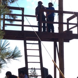 Photo of Angeles Crest Christian Camp - La Cañada, CA, United States. Gettin ready to zip line!!