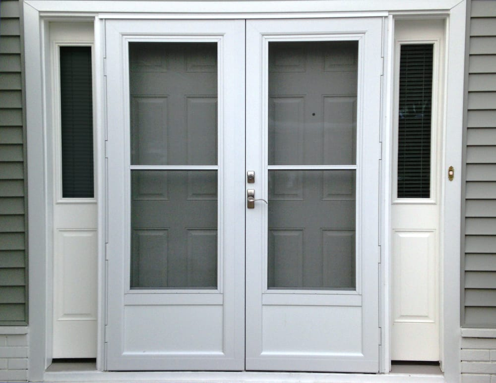 Insulated fiberglass French doors with sidelites and extruded ...