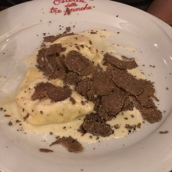 Tre Panche Florence Menu.Tortelli With Truffle Yelp