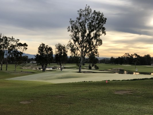 Photo of Santa Ana Country Club - Santa Ana, CA, United States. Short frost delay in late December.