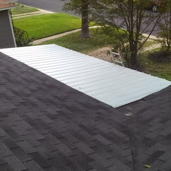 Special Metal Patio Cover And Re Roof Of Asphalt Shingles