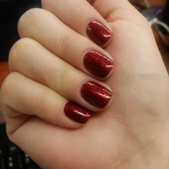 My Christmas Acrylic Nails - short