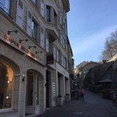 Photo of Paroisse St-Pierre-Fusterie - Geneva, Genève, Switzerland. walk way leading to the bottom of the cathedral