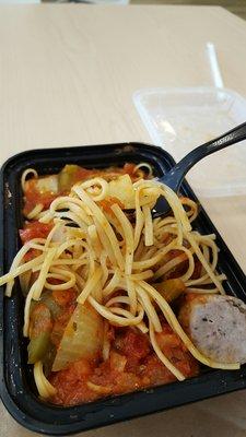 Photo of Pavia - Italian Cuisine & Catering - Boston, MA, United States. Pasta with Italian sausage.