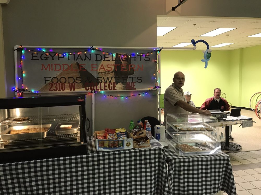 Photo of Egyptian Delights Cafe - Appleton, WI, United States. Egyptian Delights at Appleton's Downtown Farmers Market