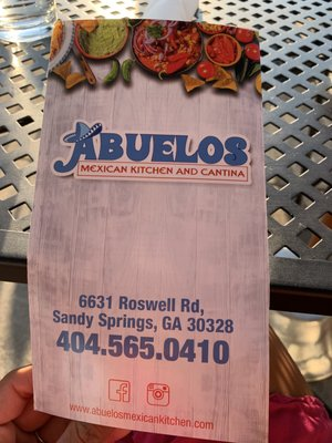 Abuelos Mexican Kitchen And Cantina 6631 Roswell Rd Atlanta Ga Restaurants Mapquest