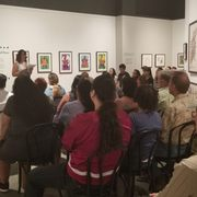 Photo of Autry Museum of the American West - Los Angeles, CA, United States. Poetry reading by indigenous lady from Los Angeles (Tongva) in the gallery