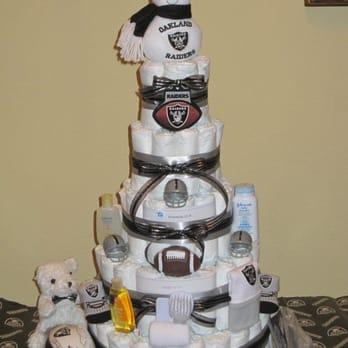 Wondrous Oakland Raiders Specialty Diaper Cake Yelp Funny Birthday Cards Online Inifofree Goldxyz