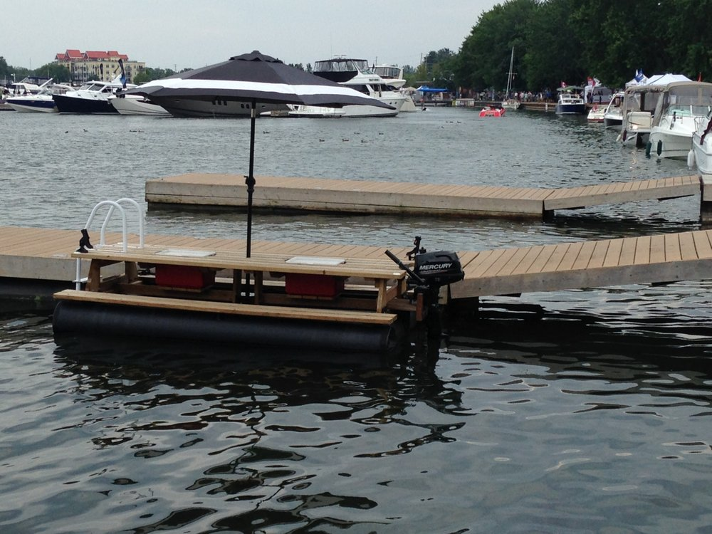 Motorized Floating Picnic Table With