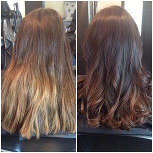 Before After Color Correction Conditioning Treatment