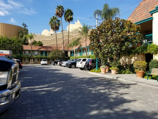 Photo of Candy Cane Inn - Anaheim, CA, United States. Cars Land in Disney CA is right behind the hotel.