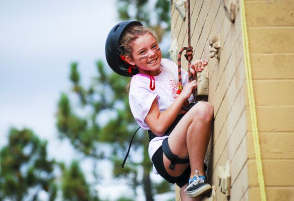 Photo of Angeles Crest Christian Camp - La Cañada, CA, US. Building confidence at Angeles Crest
